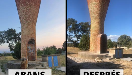 Actuacions de millora i restauració al dipòsit de Comabella